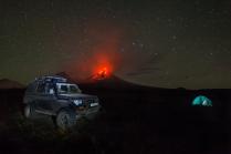 Ночь   у Ключевского вулкана