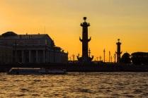 Золотой закат над Санкт-Петербургом
