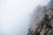 Гора внутри облака