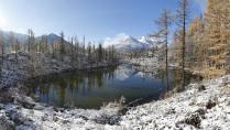 Первый снег на лавовом озере