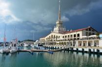 Морской вокзал в Сочи.