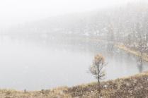 Первый снег на озере Кеделю