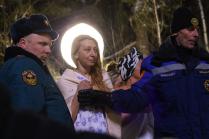 Празднование крещения в Серебряном бору