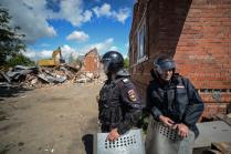 Снос незаконных построек в цыганском поселке Плеханово под Тулой