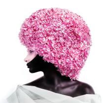 розовая клумба