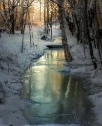 Зимний ручей.