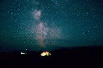 Звёздная ночь на Толуде, Камчатка