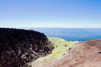 Шлаковая пробка на вершине Авачинского вулкана