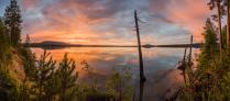 На берегу Ангары. Закат