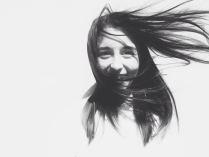 Женя на солнце и ветру.