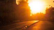Закат на ул Рождественская в Нижнем Новгорде 24.10.2016