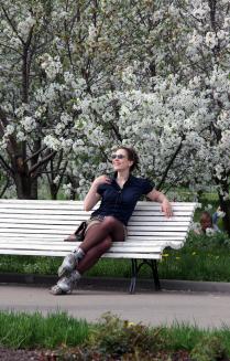 Весна или девушка на роликах