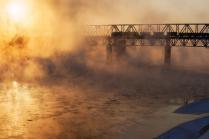 Морозное утро на реке Волхов