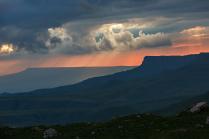 Закат на перевале Гум-Баши...