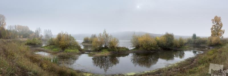 Туманное утро осени