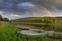 После дождя на берегу Чусовой