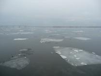 Ледоход на реке Волга