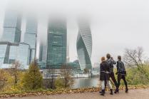 Осенний вид на Москва-Сити