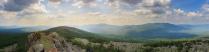 Таганай. Вид на хребет Большой Таганай с горы Ицыл.