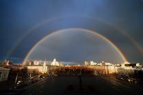 Ноябрьская радуга над Воронежем