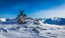 На вершине горы Аккая