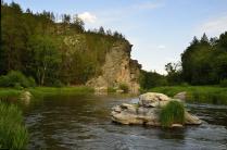 Скала Яманташ на реке Сакмара