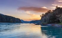 Закат на реке Катунь, Алтай!