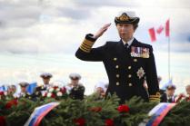 Принцесса Анна отдает дань памяти погибшим участникам Арктических конвоев