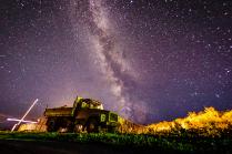Звездное небо над селом Купчегень