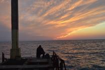 Вечером на рыбалке...