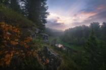 Осень среди скал