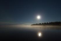 Лунной сентябрьской ночью.
