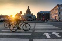 Закатные велосипедисты