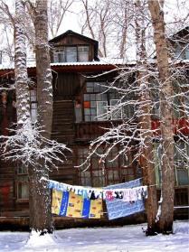 Первый снег в рабочем поселке