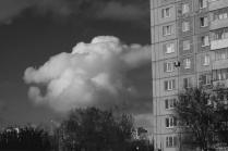 Окна, небо, облака