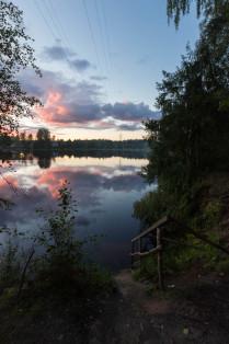 Закат на реке Оредеж