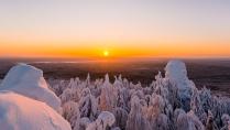 Новогодний вечер на горе Колпаки.