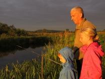 Рыбалка на закате.