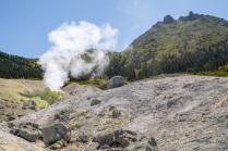 Фумарольное поле вулкана Менделеева. Курильские острова.