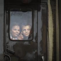 В окне паровоза