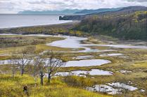 Вид на Тихий океан через Приливное озеро.