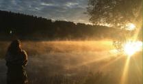 Рассвет над Загорским морем