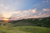 Рассвет на Воргольских скалах