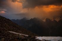 Непогода в горах, непогода