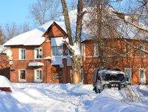 Дом, Снег, УАЗ
