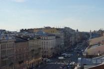Невский проспект с высоты птичьего полета