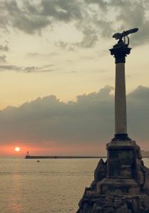 Закат в Севастополе.