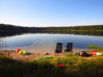 Тихое утро на озере
