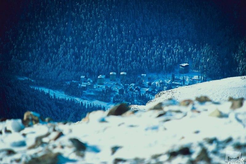 Деревня в горах.