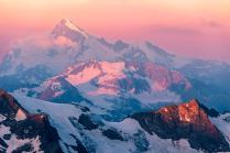 Рассвет в Кавказских горах
